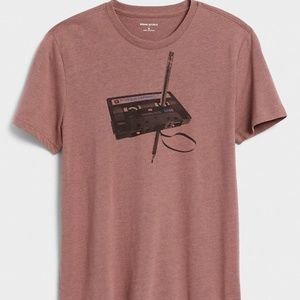 Tape and Pencil Graphic T-Shirt Size S NWT